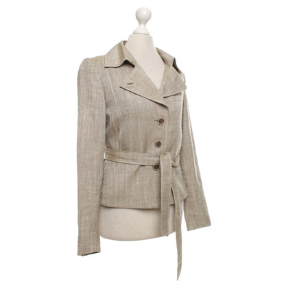 Rena Lange Short blazer in khaki and white