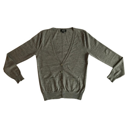 A.P.C. Grey merinos wool cardigan