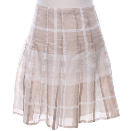 Burberry Pleated skirt in beige / white