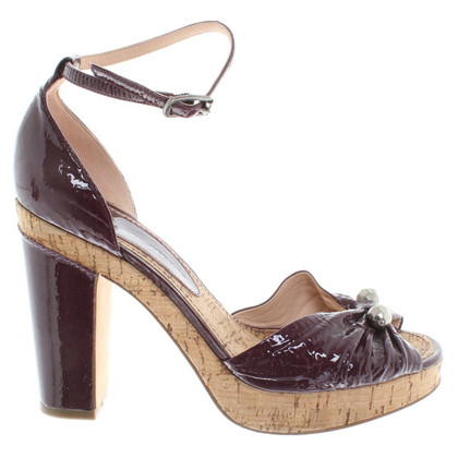 Marc by Marc Jacobs in pelle verniciata Peeptoes