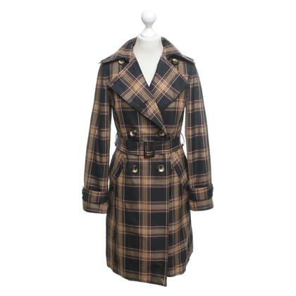 Piu & Piu Trench coat with plaid pattern