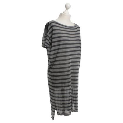 T by Alexander Wang T-Shirt-Kleid mit Streifenmuster