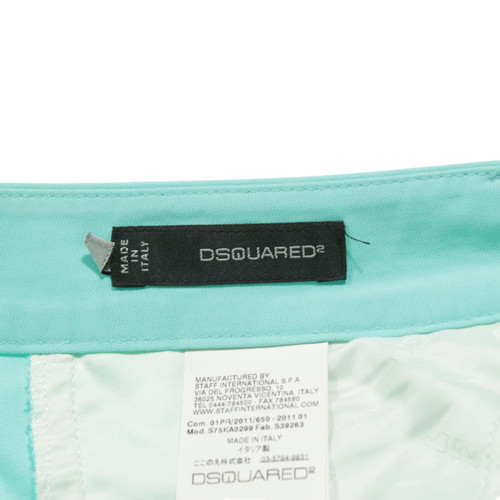 pretty nice 6e362 1df15 Dsquared2 Trousers Cotton in Turquoise - Second Hand ...