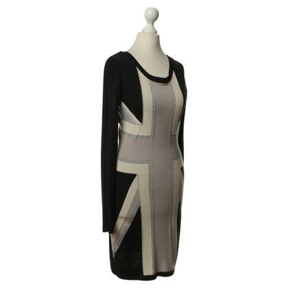 Temperley London Vestito in nero/grigio/bianco