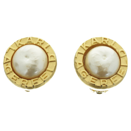 Karl Lagerfeld Clip earrings with Pearl