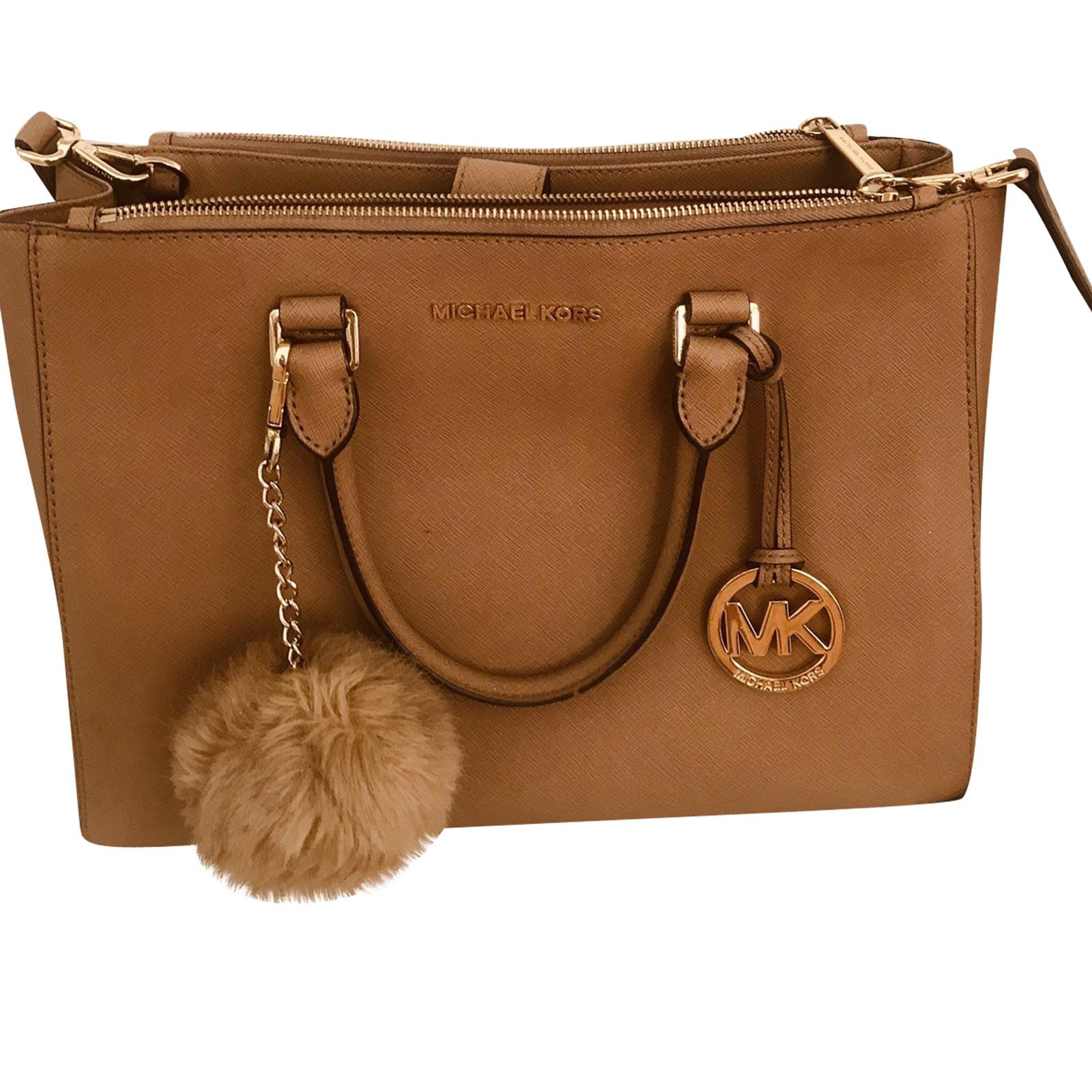 Michael Kors Handbag Leather in Brown Second Hand Michael