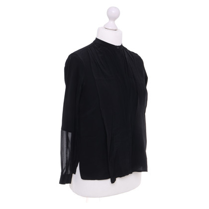 All Saints Black blouse with silk content