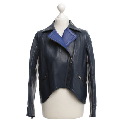 Fendi Lederjacke in Blau
