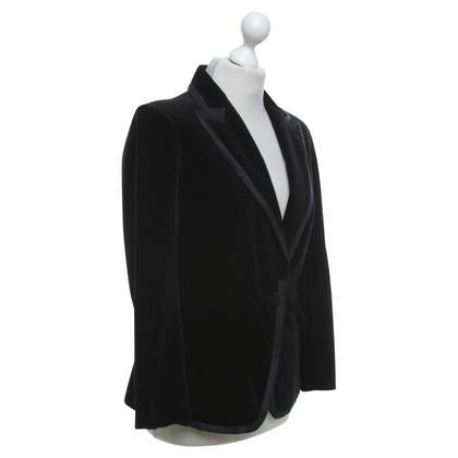 Tara Jarmon Velvet blazer in black