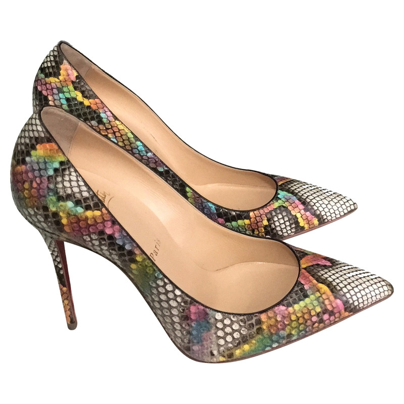 ba905ca5e4ad ... hot christian louboutin pumps made of python leather 58a66 cee7c