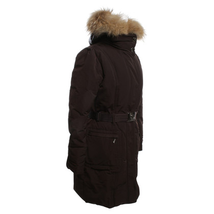 Moncler manteau brun foncé