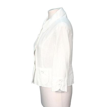 Hobbs top in lino bianco