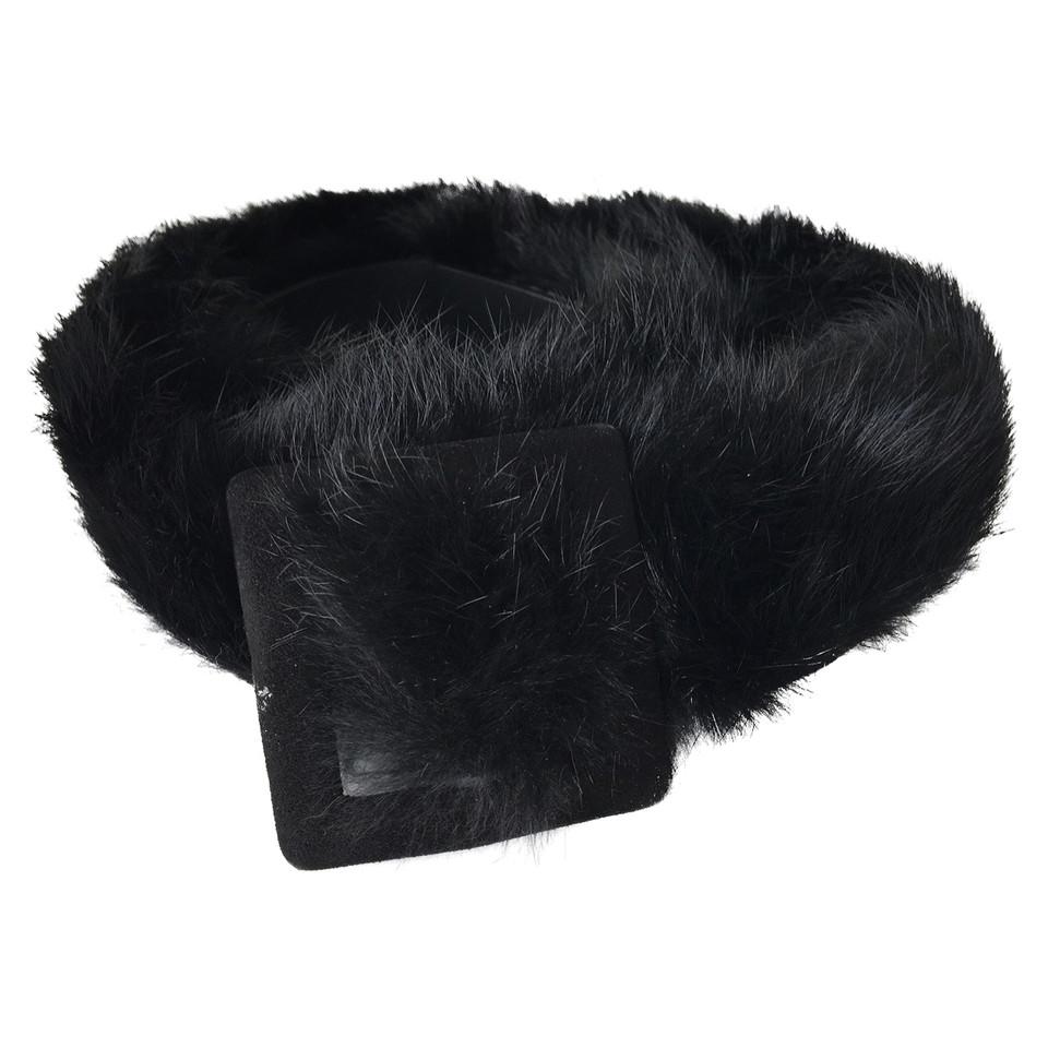Walter Steiger Belt with fur trim