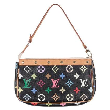 """Louis Vuitton """"Pochette Accessories Monogram Multicolore Noir"""""""