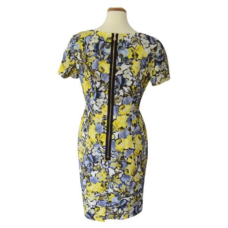 mit Erdem Muster Erdem Blumenprint Bunt Kleid Kleid qF0xa8