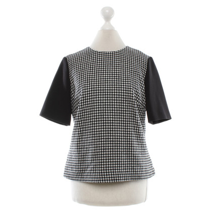 Hobbs top with pepita pattern