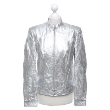 Escada Leather jacket in creased look