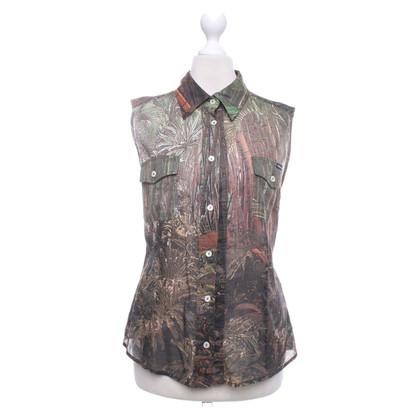 D&G Mouwloze blouse met een tropische print