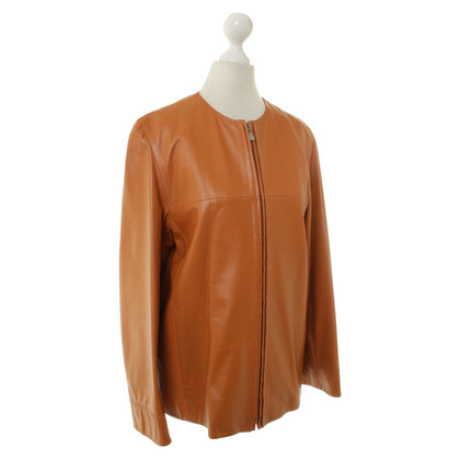 Max Mara Leather jacket in Orange