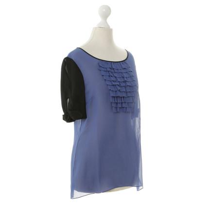 Temperley London Camicia di seta con arricciature