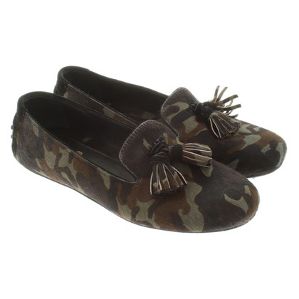 Car Shoe Loafer in camouflage pattern