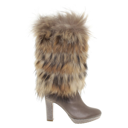 René Caovilla Boots with real fur