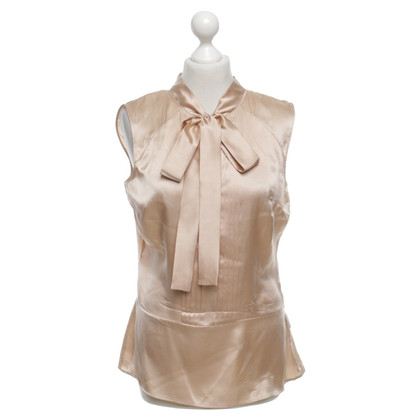 Blumarine Silk blouse in beige