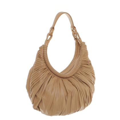 Loewe sac à main en cuir avec des plis