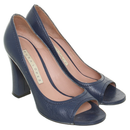 Pura Lopez Peep-dita dei piedi in blu