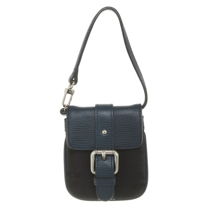 MCM Handbag in black / blue
