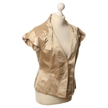 Hugo Boss Korte mouw blouse beige