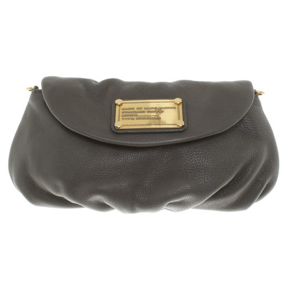 Marc by Marc Jacobs Lederclutch in Khaki