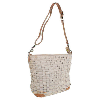 Campomaggi Shoulder bag in cream and beige