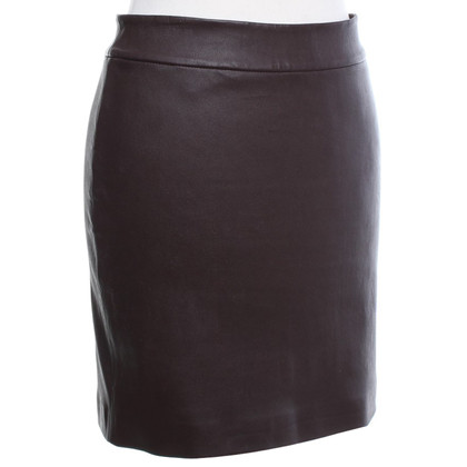 Alexander Wang Leather skirt in Bordeaux