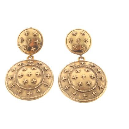 Chanel orecchini clip color oro