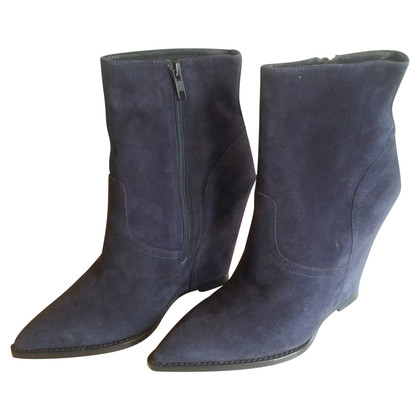 Ash Suede Ankle Boots in blue