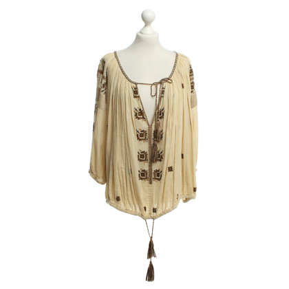 Isabel Marant Wide blouse in beige