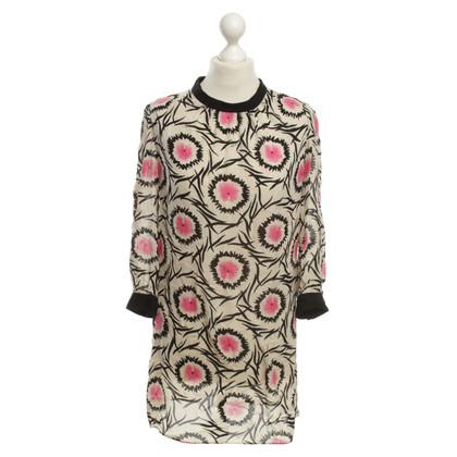 Milly Zijden jurk met grafische patronen