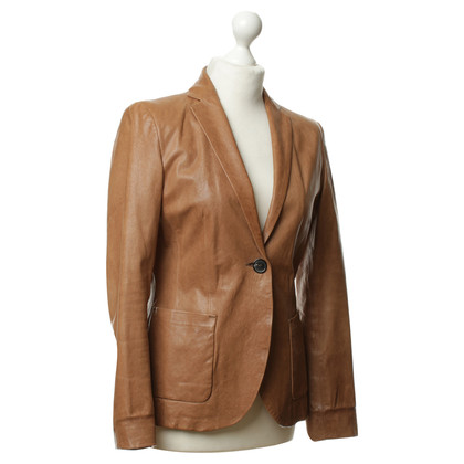 JOOP! Leather Blazer in Brown