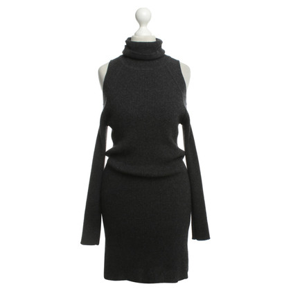 360 Sweater Abito in cashmere grigio scuro