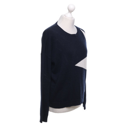 FTC Sweater in dark blue / white