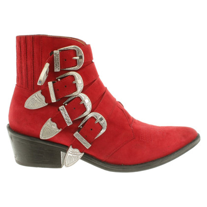 Toga Pulla Bottines en rouge