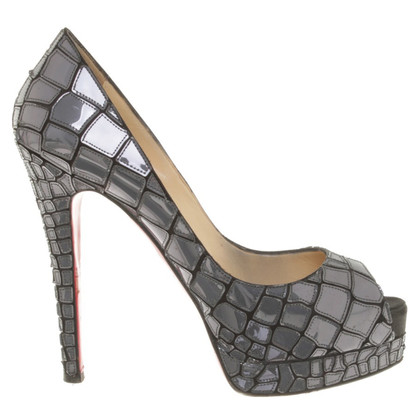 Christian Louboutin Peeptoes in Gray