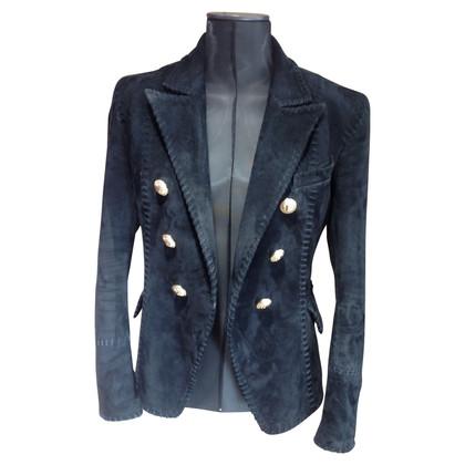Balmain giacca in pelle