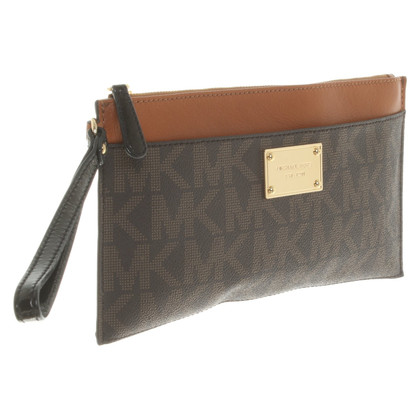 Michael Kors clutch with logo application