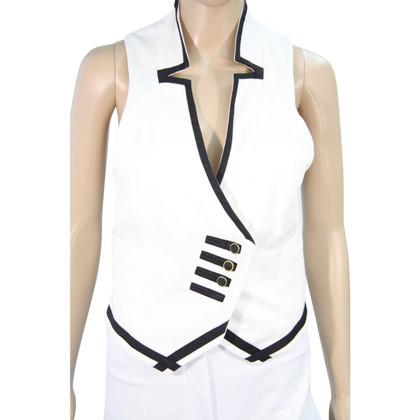 Reiss Vest in black / white