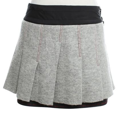 Marithé et Francois Girbaud Pleated skirt in grey / black