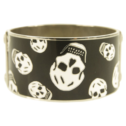 Alexander McQueen Black and white skull bracelet