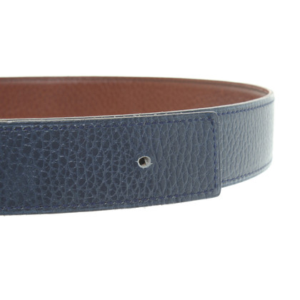 Hermès reversible belt in blue
