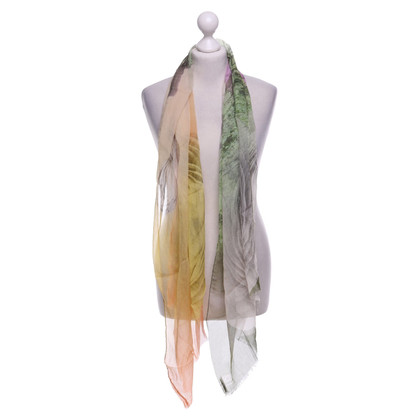 Moschino silk scarf in multicolor